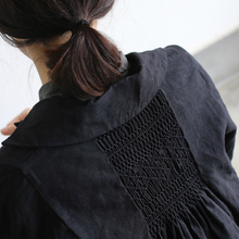 Back smocking jacket long