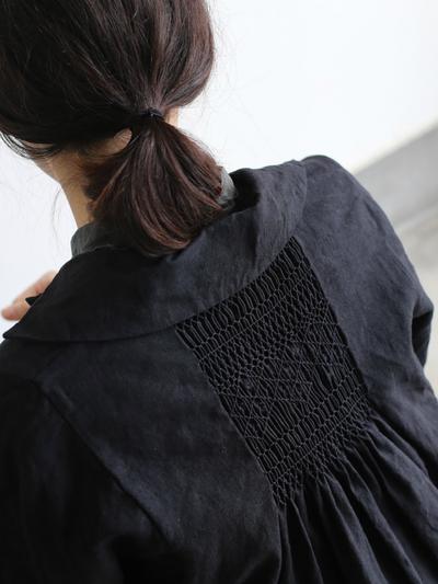 Back smocking jacket long 1