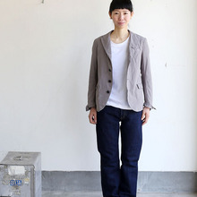 SP slim 5 pocketpants~cotton hemp denim