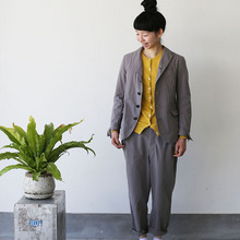 Old tailored jacket Ⅱ / Men's cropped pants~gray
