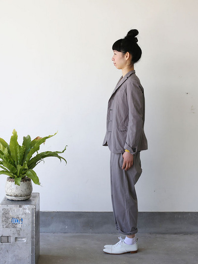 Old tailored jacket Ⅱ / Men's cropped pants~gray 2