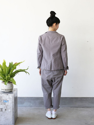 Old tailored jacket Ⅱ / Men's cropped pants~gray 3