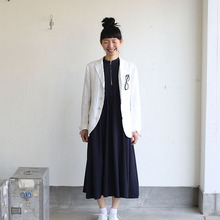 Old tailored jacket Ⅱ~high count fine hemp