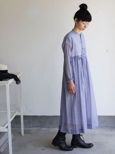 Gather bottom wrap dress 2
