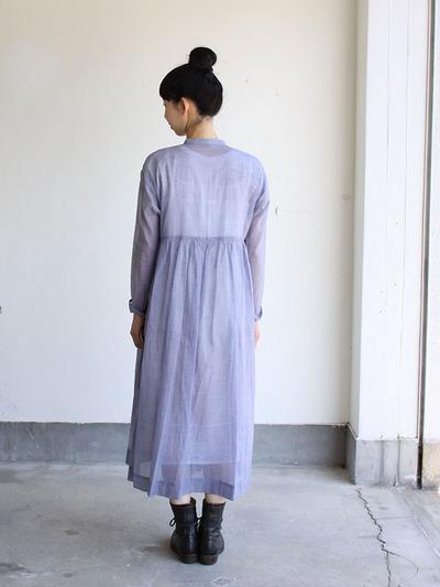 Gather bottom wrap dress 3