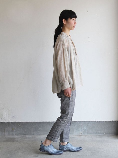 String gather blouse/ Tapered pants 3