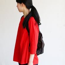 Big tuck blouse/SP slim 5pocket pants