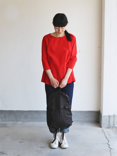Big tuck blouse/SP slim 5pocket pants  3