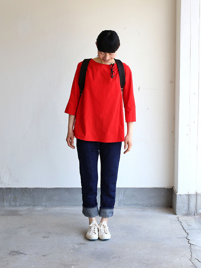 Big tuck blouse/SP slim 5pocket pants  2