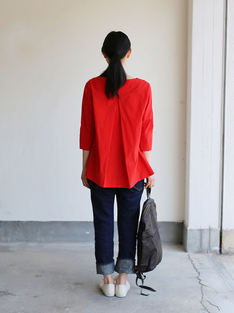 Big tuck blouse/SP slim 5pocket pants  5