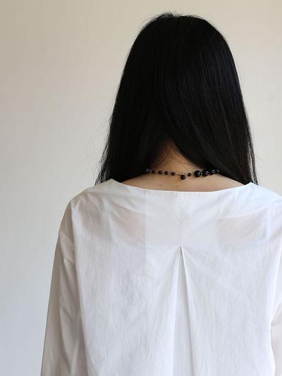 Big tuck blouse/Woven leggins short 1
