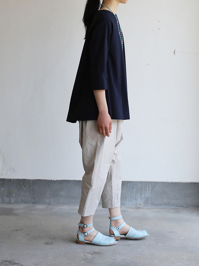 Big tuck blouse/Draw string sarrouel pants 3