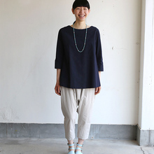 Big tuck blouse/Draw string sarrouel pants