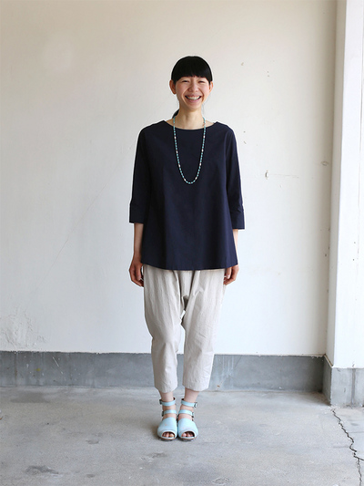 Big tuck blouse/Draw string sarrouel pants 1