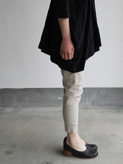 V-neck big tunic short/Woven leggins short 3