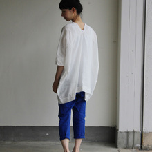 V-neck big tunic short/MOP pants