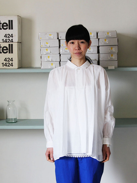 YAECA Tuck blouse / A&S  Men's cropped pants 2