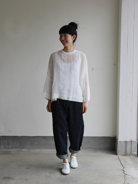 Big slip on blouse short/YAECA 11-11Wデニム 2