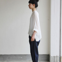 Big slip on blouse short/YAECA 11-11Wデニム