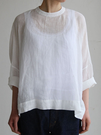 Big slip on blouse short/YAECA 11-11Wデニム 4
