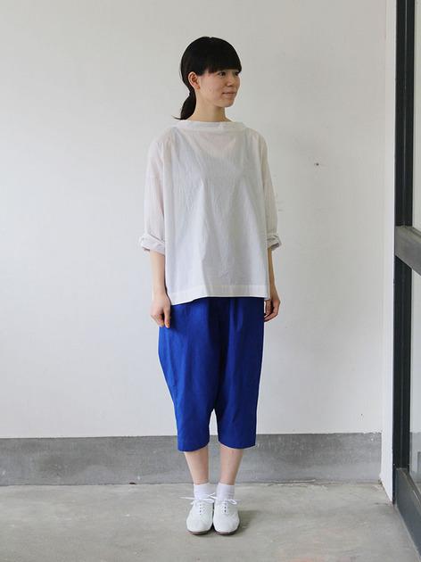 Stand collar box shirt / Draw string pants 2