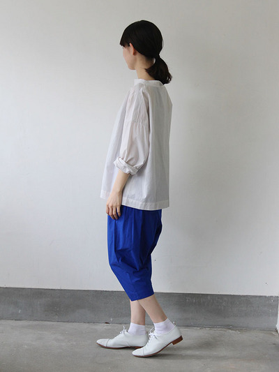 Stand collar box shirt / Draw string pants 3