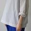 Stand collar box shirt / Draw string pants 1