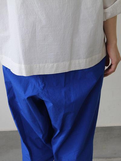 Stand collar box shirt / Draw string pants 4