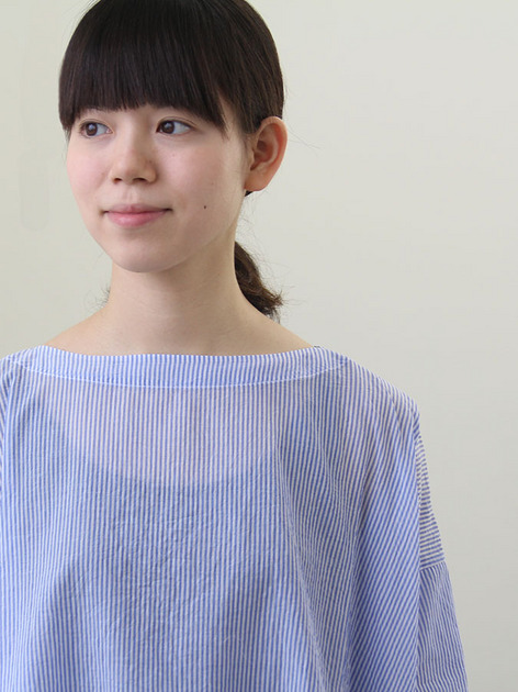 Short sleeve tent line blouse~cotton/Short Chinos 5