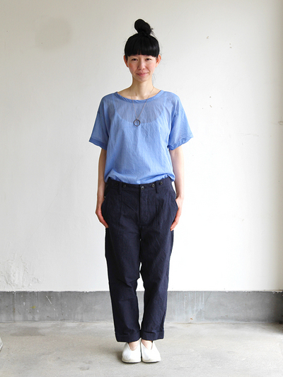 Big T-shirt 2~yarn dyed fine lawn cotton 3