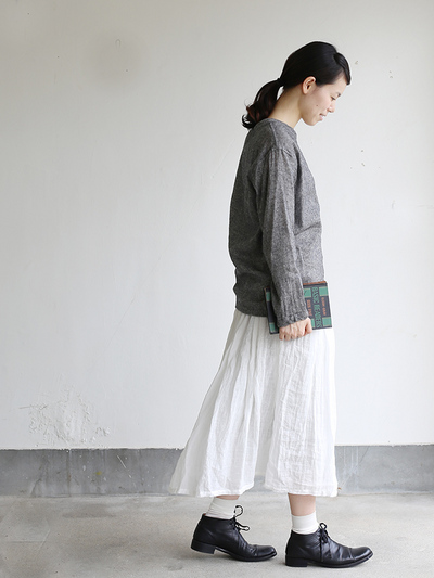 Long sleeve big T-shirt~wool linen gauze 3