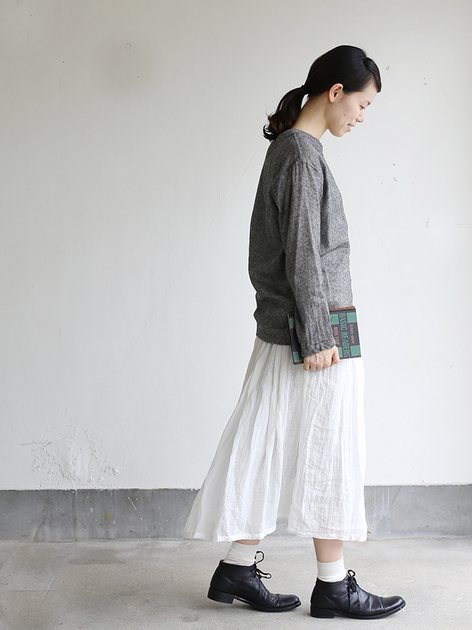 Long sleeve big T-shirt~wool linen gauze 3