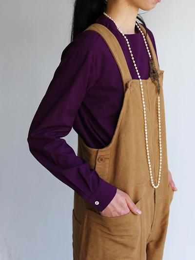 Crew neck slip on blouse / YAECA 5