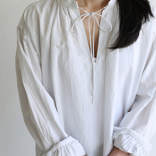 Skinny string gather blouse / SP slim 5pocket pants