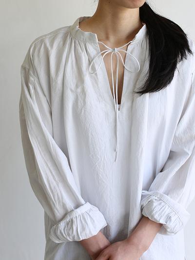 Skinny string gather blouse / SP slim 5pocket pants  1