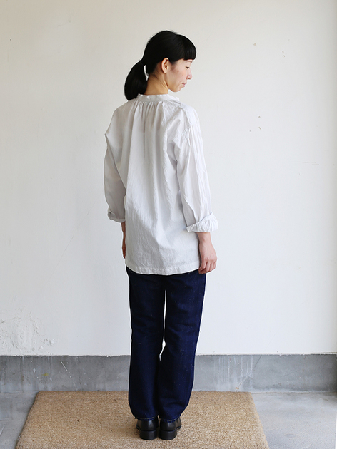 Skinny string gather blouse / SP slim 5pocket pants  4