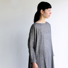 Dolman tunic~wool linen / Draw string sarrouel pants