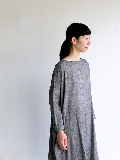 Dolman tunic~wool linen / Draw string sarrouel pants 1