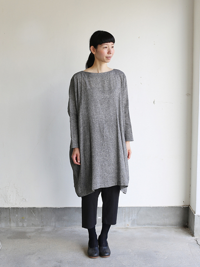 Dolman tunic~wool linen / Draw string sarrouel pants 2