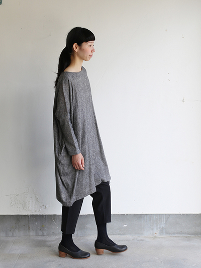 Dolman tunic~wool linen / Draw string sarrouel pants 3