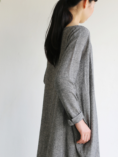 Dolman tunic~wool linen / Draw string sarrouel pants 4