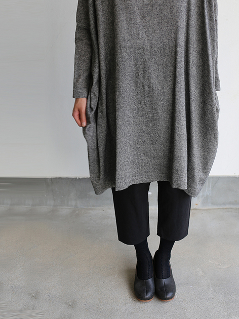 Dolman tunic~wool linen / Draw string sarrouel pants 5