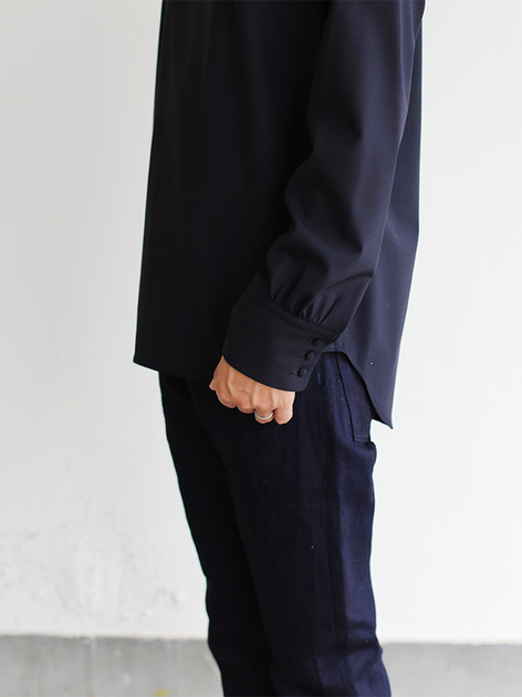 Shoulder button blouse / SP slim 5pocket pants  5