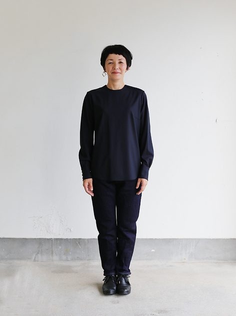 Shoulder button blouse / SP slim 5pocket pants  4