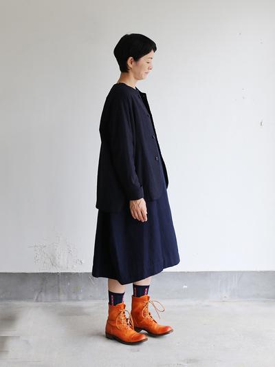 New balloon dress long sleeve 2~cotton linen 1