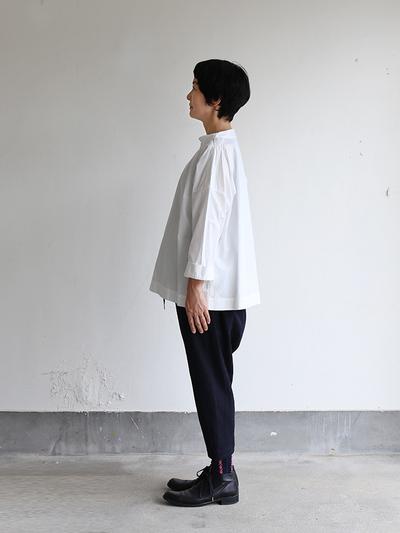 Stand collar box shirt~cotton 3