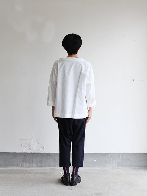 Stand collar box shirt~cotton 4