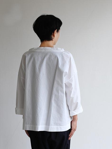 Stand collar box shirt~cotton 5