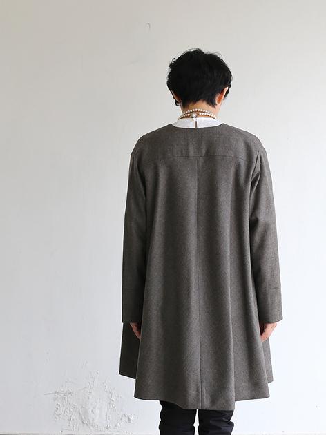 Trapeze long jacket 4