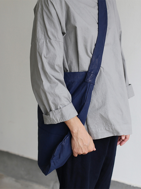 Stand collar box shirt~clove gray 5